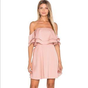 Keepsake Two Fold Mini Dress in Dusty Pink